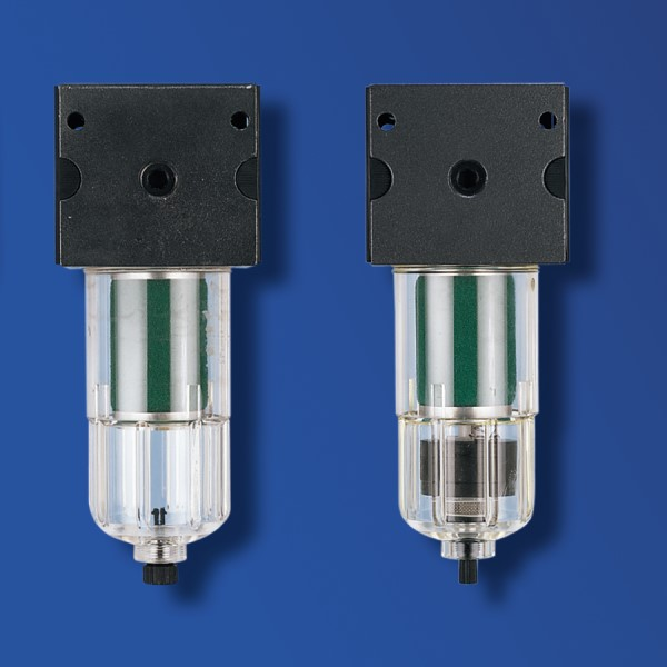 Druckluftfilter mit handbetätigtem Ablassventil