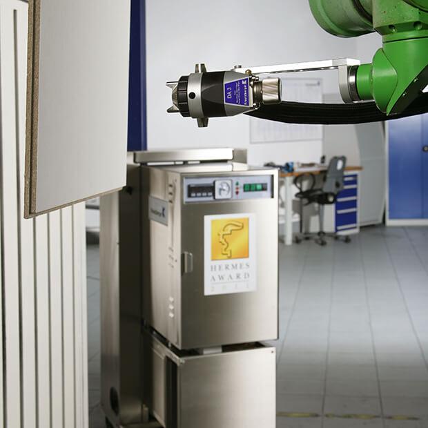Dampfspritzapparat auf Roboter